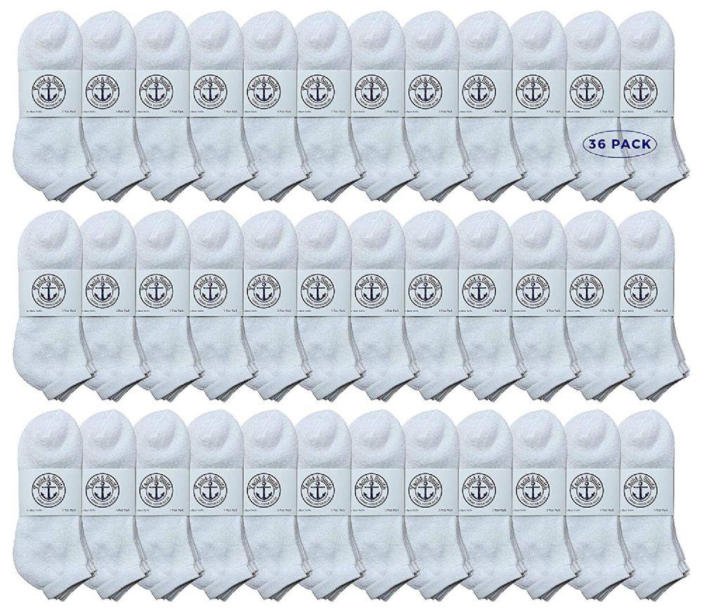 36 of Yacht & Smith Men's Cotton No Show Sport Socks King Size 13-16 White
