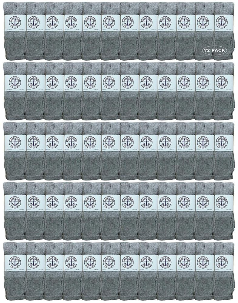 120 of Yacht & Smith Women's Cotton Tube Socks, Referee Style, Size 9-15 Solid Gray
