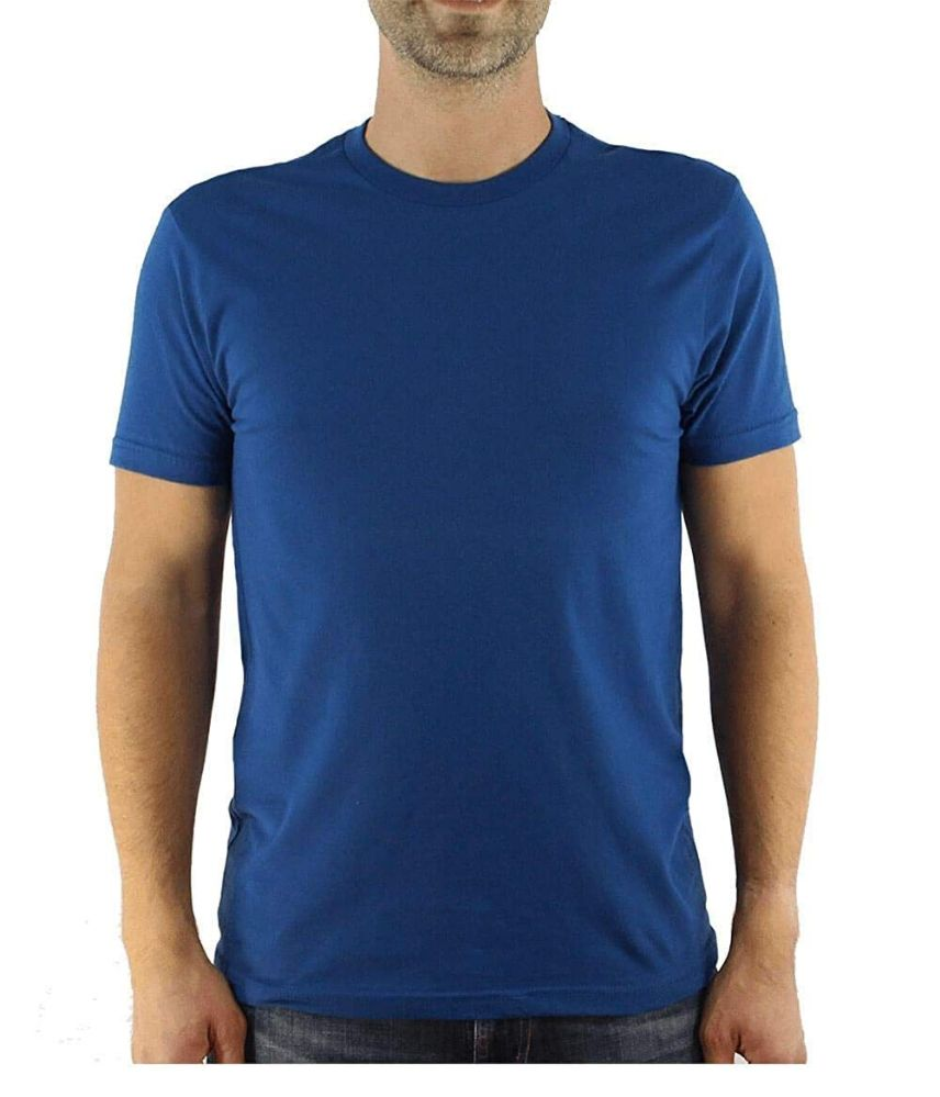 12 of Mens Cotton Crew Neck Short Sleeve T-Shirts Royal Blue, X-Large