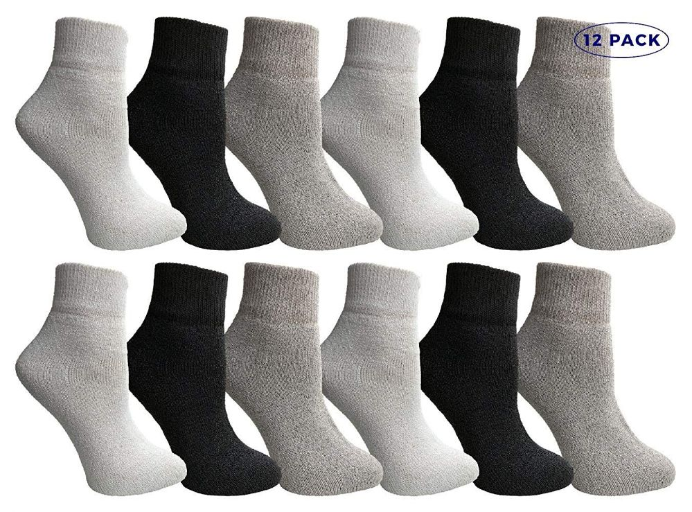 12 of Yacht & Smith Mens & Womens Ankle Wholesale Bulk Pack Athletic Sports Socks, By Socks'nbulk (womens 9-11 (shoe Size 5-10), 12 Pairs Mix)