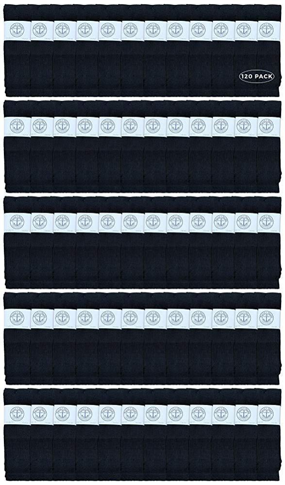 120 of Yacht & Smith Men's 32 Inch Cotton King Size Extra Long Black Tube SockS- Size 13-16