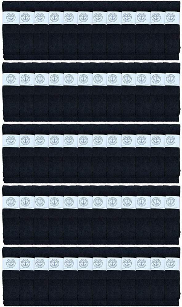 60 of Yacht & Smith Men's 32 Inch Cotton King Size Extra Long Black Tube SockS- Size 13-16