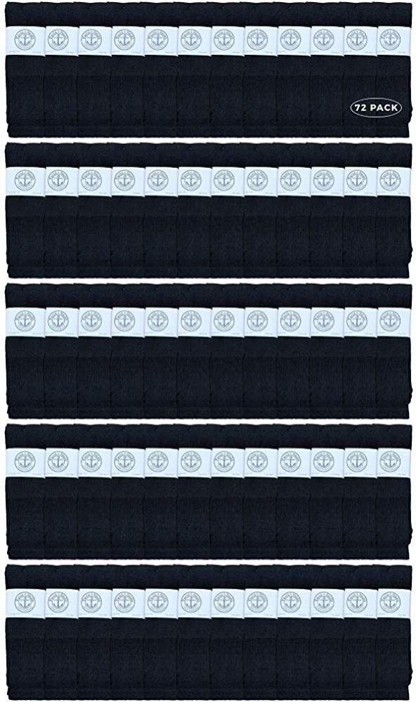 72 of Yacht & Smith Men's 32 Inch Cotton King Size Extra Long Black Tube SockS- Size 13-16