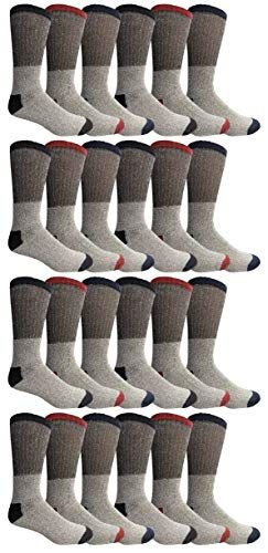 24 of Yacht & Smith Womens Cotton Thermal Crew Socks , Warm Winter Boot Socks 10-13