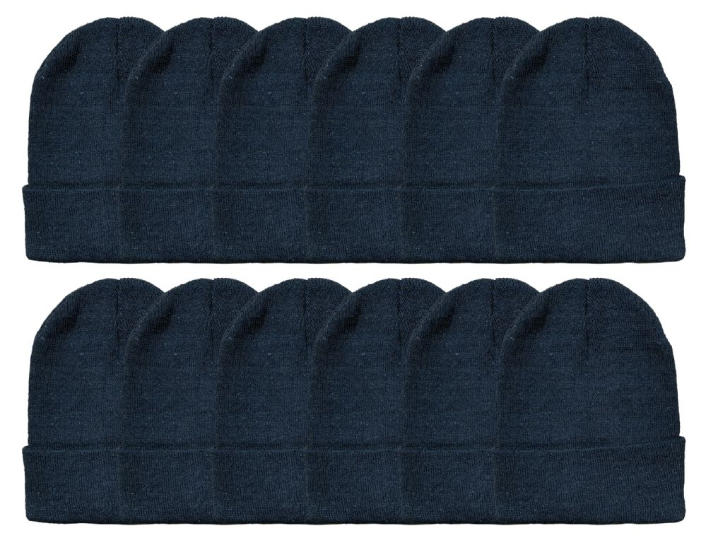 24 of Yacht & Smith Unisex Winter Warm Beanie Hats In Solid Black