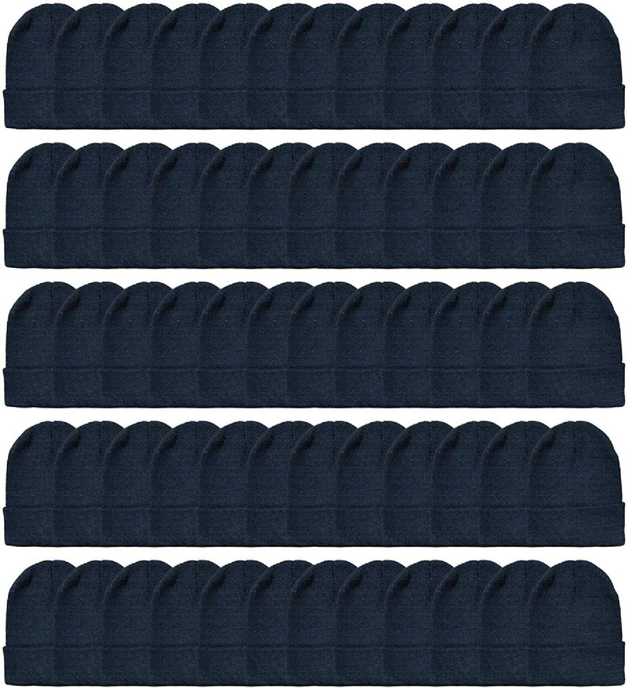 120 of Yacht & Smith Unisex Winter Warm Beanie Hats In Solid Black