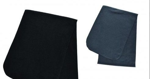 60 of Unisex Winter Fleece Scarfs Black And Grey Assorted