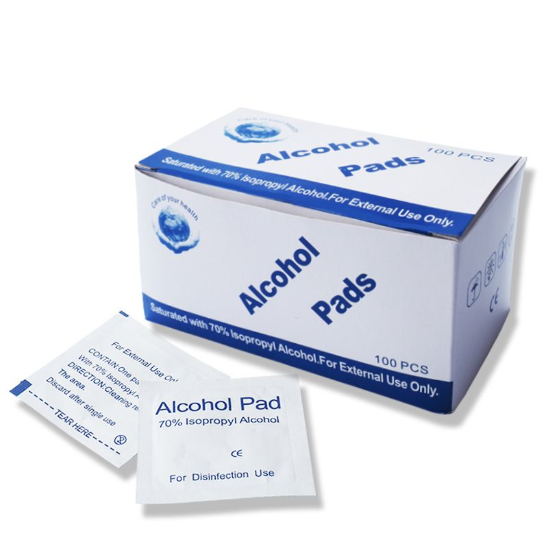 400 of 70% Isopropyl Alcohol Cleansing Pads , First Aid Cleaning Pads