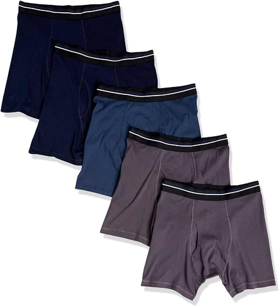 144 of Yacht & Smith Mens 100% Cotton Boxer Brief Assorted Colors Size Medium