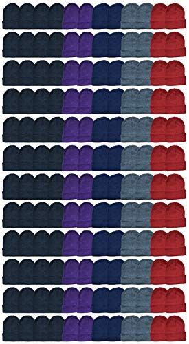 240 of Yacht & Smith Ladies Winter Toboggan Beanie Hats In Assorted Colors