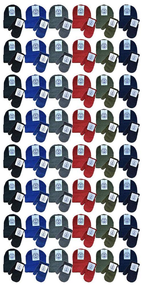 144 of Yacht & Smith Wholesale Kids Beanie And Glove Sets (beanie Mitten Set, 144 Pieces)