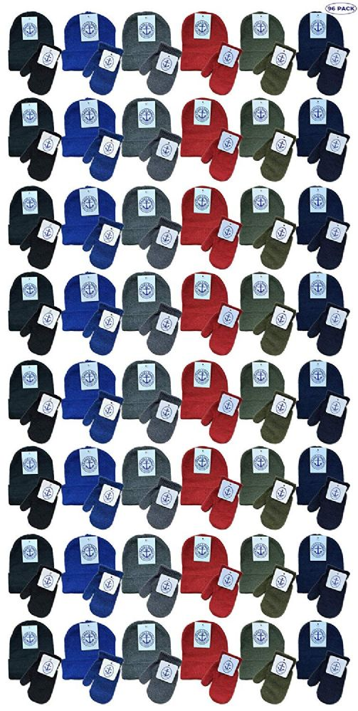 96 of Yacht & Smith Wholesale Kids Beanie And Glove Sets Beanie Mitten Set 96