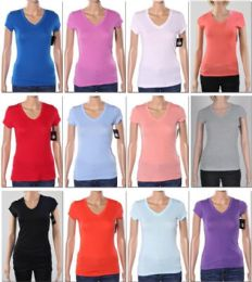 144 of Women's V Neck T-Shirt