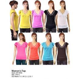 144 of Womans Short Sleeve V Neck