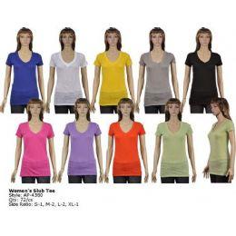 72 of Womans Slub T Shirt