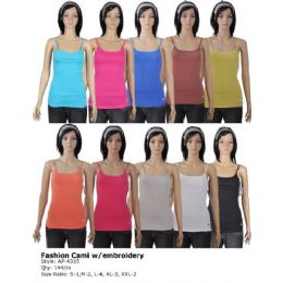 144 of Women's Fashion Cami With Embroidery