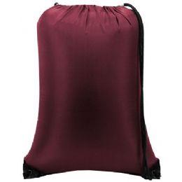 60 of Value Drawstring Backpack - Maroon
