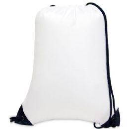 60 of Value Drawstring Backpack - White