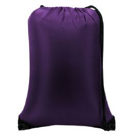 60 of Value Drawstring BackpacK-Purple