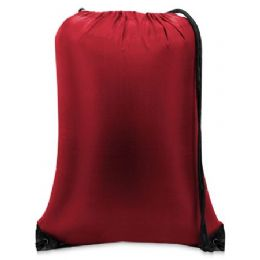 60 of Value Drawstring BackpacK-Red