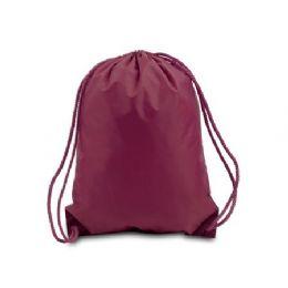 60 of Drawstring Backpack - Maroon