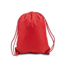 60 of Drawstring Backpack - Red