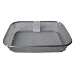48 of Basket Mesh Stainless Rectangular 13in By 10