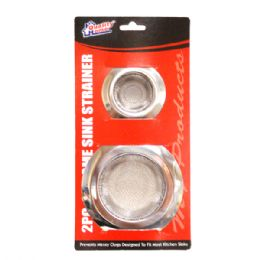 72 of 2 Pack Chrome Sink Strainer