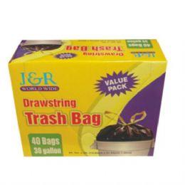 12 of Garbage Bag Drawstring Trash 30gal 40ct