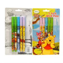 48 of Stick Pen 5pk Pooh