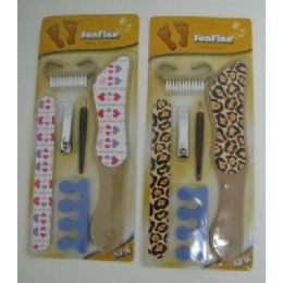 144 of 6pc Printed Pedicure Set