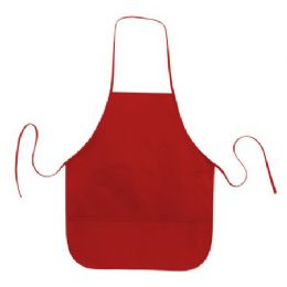 72 of Cotton Twill Apron Red