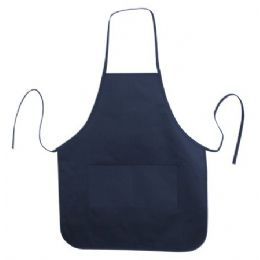 72 of Long Round Bottom Cotton Twill Apron Navy