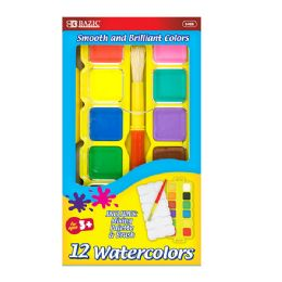 72 of Bazic Water Color Set With Brush & Mixing Palette
