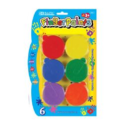 144 of Bazic Assorted Color 40ml Finger Paint (6/pack)