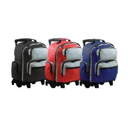 "6 of 18"" TwO-Tone Rolling Backpack"