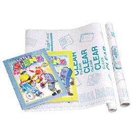 """48 of 18"""" X 4.5 Ft. Clear Self Adhesive Book Cover"""