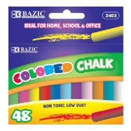 144 of Bazic Assorted Color Chalk (48/box)