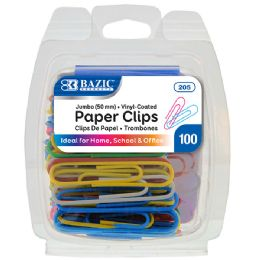 72 of Bazic Jumbo (50mm) Color Paper Clips (100/pack)