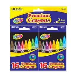 72 of Bazic 16 Color Crayon (2/pack)