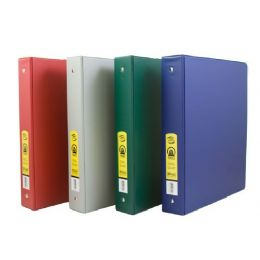 "48 of Bazic 1.5"" Asst. Color Pvc 3-Ring Binder W/ 2-Pockets"