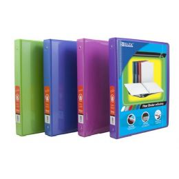 "48 of Bazic 1/2"" Bright Color 3-Ring View Binder W/ 2-Pockets"