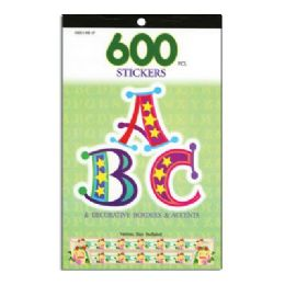 72 of Alphabetical Series Assorted Sticker (600/pack)