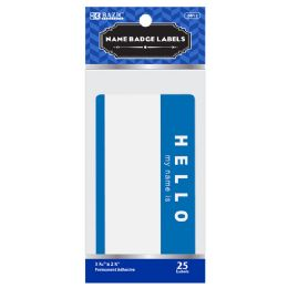 """144 of Bazic """"hello My Name Is"""" Name Badge Label (25/pack)"""