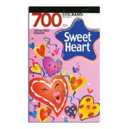 60 of Heart Series Assorted Sticker (700/pack)