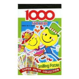 12 of Smile Face Series Assorted Sticker (1000/pack)