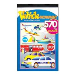 72 of Vehicle Series Assorted Sticker (570/pack)