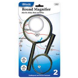 "48 of Bazic 3.5"" & 2.5"" Round Handheld Magnifier Sets (2/pack)"