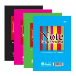 "48 of Bazic 100 Ct. 4"" X 6"" Colored Note Pad"