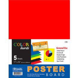 """48 of Bazic 11"""" X 14"""" Multi Color Poster Board (10/pack)"""